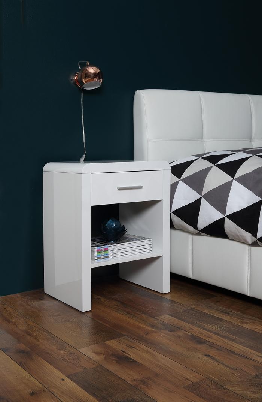 stolik szafka nocna superstar bia y wysoki po ysk kare design nowoczesne meble kare design. Black Bedroom Furniture Sets. Home Design Ideas