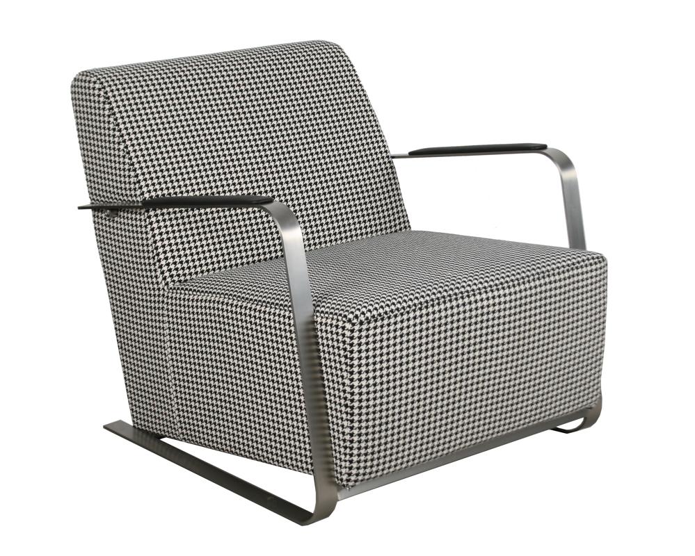 Fotel Adwin czarny&biały
