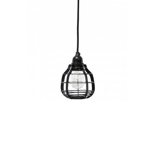 Lampa LAB czarna z włącznikiem