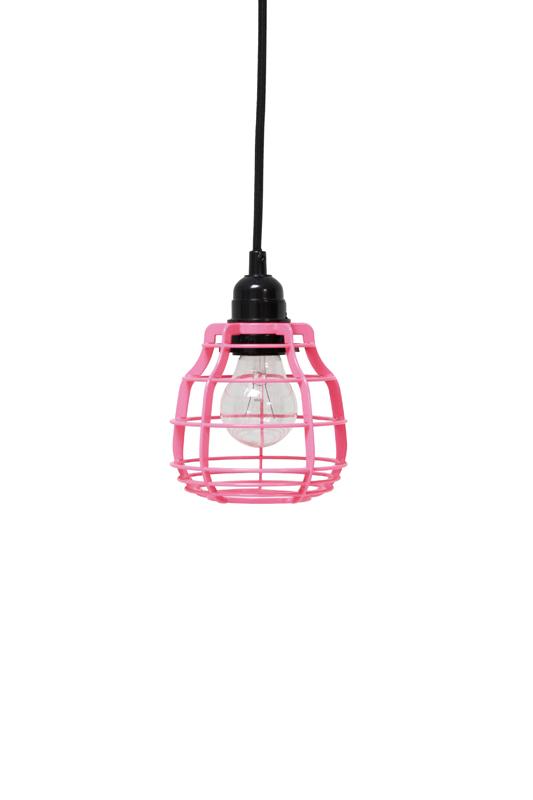 Lampa Lab Różowa Wisząca