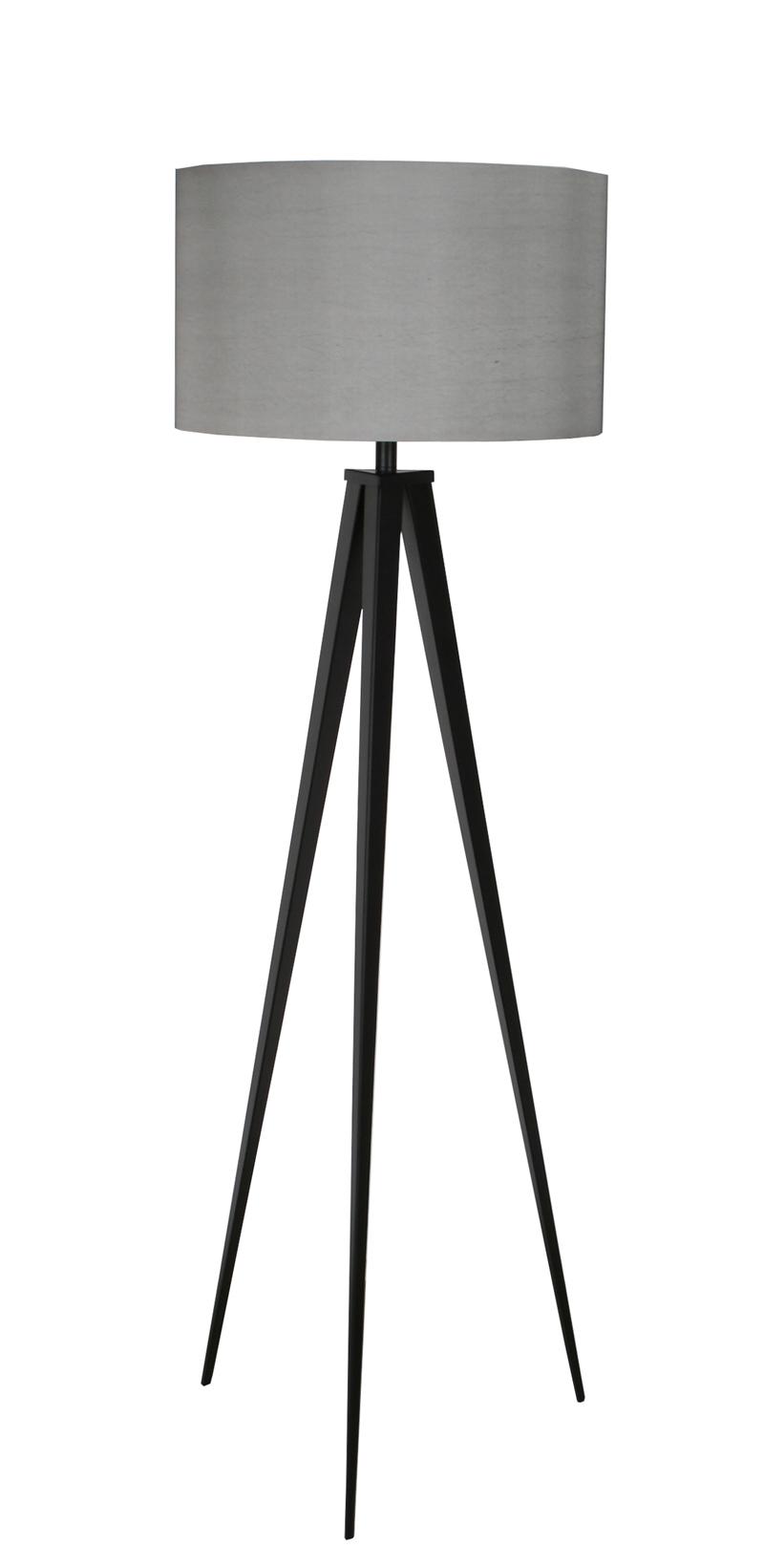 Lampa Podłogowa Tripod szaro-czarna
