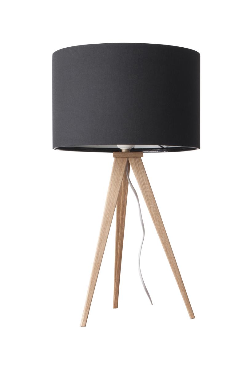 Lampa Stołowa Tripod Black Drewniana - 5200008